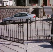 Dairesel açılır bahçe kapısı kanatlı bahçe kapısı
